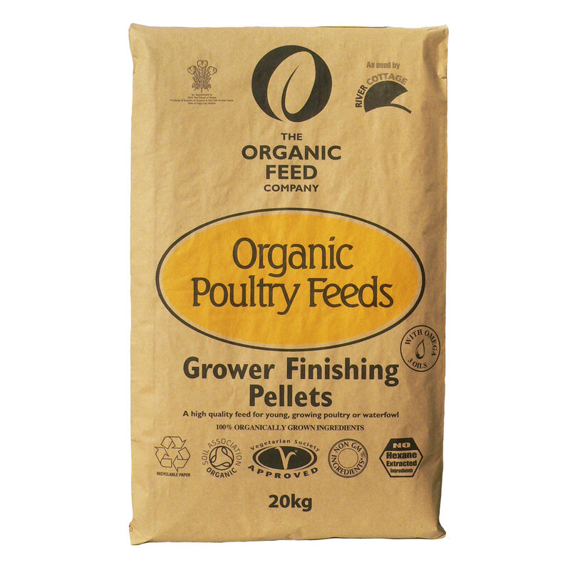 Allen & Page Organic Feed Company Grower/Finishing Pellets 20kg