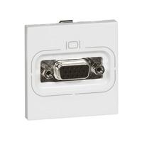 Arteor HD 15 VGA Video Socket 2 mod Square (Screw) - White  | LV0501.0946