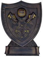 11cm Gaelic Shield - Bronze/Gold Trim