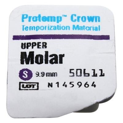3M Protemp Crown - 5pk Large Lower Molar - DMI Ireland's Leading Dental Supplier - Next Day Delivery