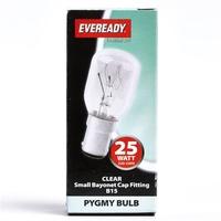 EVEREADY CLEAR PYGMY LAMP B15 25W