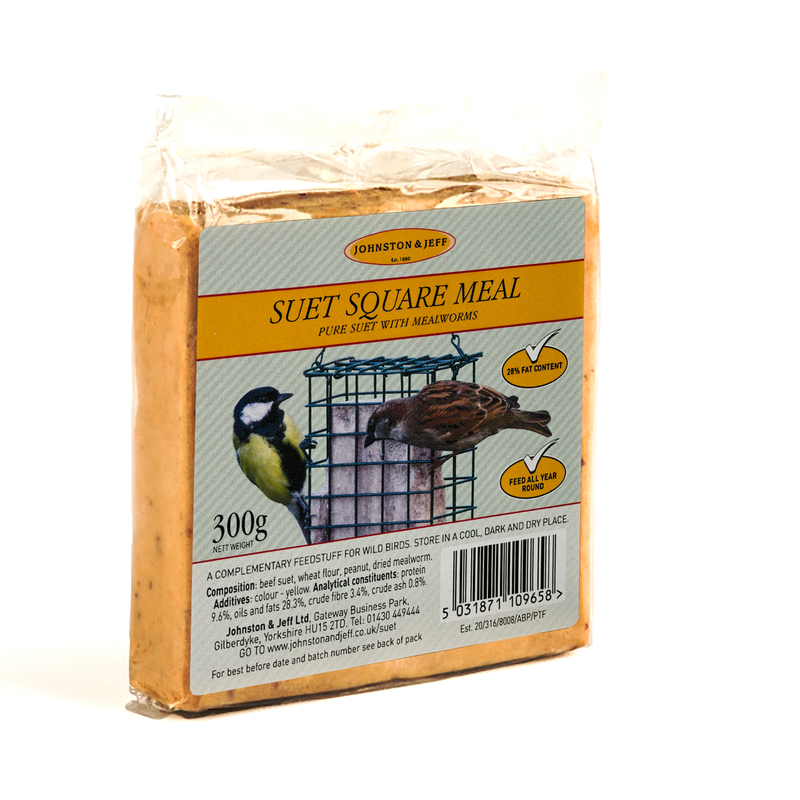 Johnston & Jeff Suet Blocks with Mealworms 24 x 300g