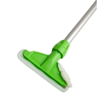 Kentucky Aluminium Mop Handle and Holder, Green