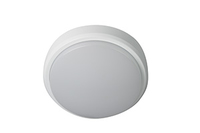 OHIO 12W IP54 CIRCULAR BULKHEAD, 30 00K, c/w WHITE and BLACK TRIMS
