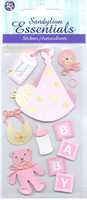 Baby Girl Special Delivery  Essential Craft Sticker.