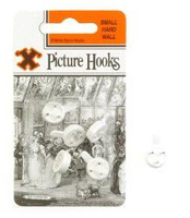 12846 12CARDS SMALL HARD WALL HOOKS