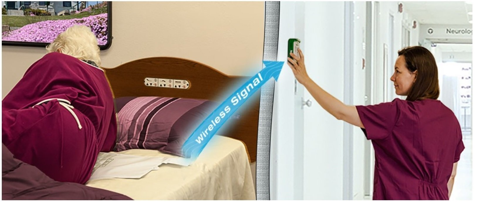Cordfree Alarm for Wireless Bed & Chair Pads