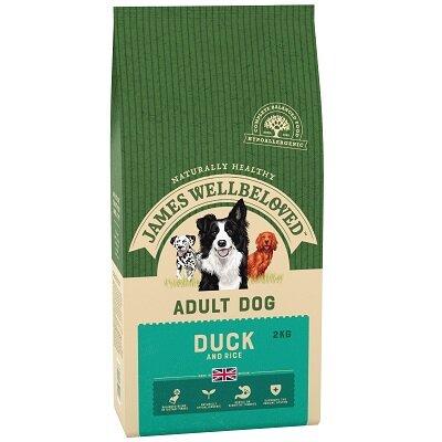 James Wellbeloved Duck & Rice Adult Dog Food 2kg