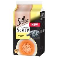 Sheba Pouches Classic Soup + Chicken Fillets 40g 4pk x 12