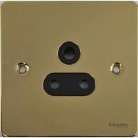 Flat Plate Polished Brass  5Amp UNSW SKT BLACK | LV0701.0143
