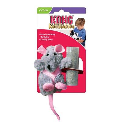 KONG Cat Toy - Refillable Catnip Rat x 1