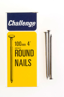 Challenge Bright Steel Round Wire Nails 100mm 500g - 12034