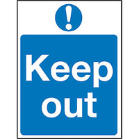 Keep Out Sign 200x300mm