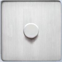 DETA Screwless 1gang Dimmer Satin Chrome | LV0201.0430
