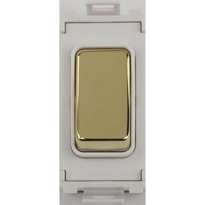 Schneider Ultimate Screwless Grid Polished Brass Retractable switch|LV0701.1057