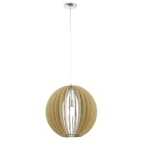 Open Globe Ceiling Pendant, Maple Wood. E27 Lamp Required | LV1902.0009
