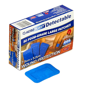 Metal Detectable Plasters - Aeroplast Premium Large Patch Dressing, X50, Blue