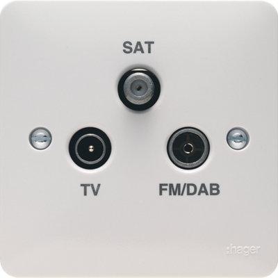 Triplexer TV/FM/DAB & SAT Outlet   LV0301.0602