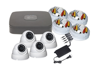 C2 Max - 8 channel DVR with 1TB DVR and 4 x 2MP 2.8mm IR White Dome Cameras