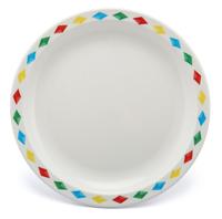 17cm Diamonds Pattern Plate - Red, Yellow, Blue & Green