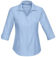 Ladies 3/4 Sleeve Preston Polycotton Shirt