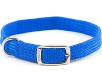 """Ancol Soft Weave Buckle Collar 12"""" Size 1 - Blue"""