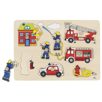 Children's Wooden Peg Puzzle - Fire Engine