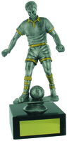 23cm Soccer Trophy (Ant Silv / Gold)