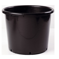 Soparco SD Container Pot Low 15lt - Black