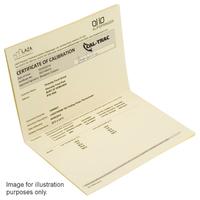CALTRAC 5pt temperature calibration c/w certificate (-18°C, 0°C, 40°C, 70°C & 100°C)