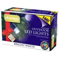 KINGFISHER 160 WHITE MULTI ACTION LED CHRISTMAS LIGHTS