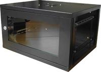 C Net Black 12U Wall mounted data cabinet 450mm Deep