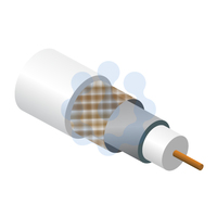 RG6 Satellite Cable White 100mtr Reel