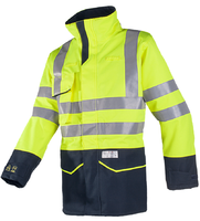 Sioen Nash Hi-vis rain jacket with ARC protection (Cl 1)