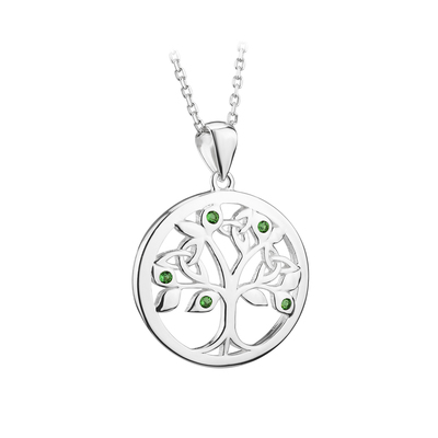 S/S CRYSTAL TREE OF LIFE PENDANT