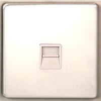 DETA Screwless RJ11 data plate White Metal | LV0201.0211