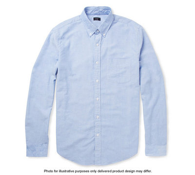 Mens Oxford Shirt Blue Long Sleeve or Short Sleeve