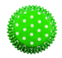 BC735 GREEN POLKA DOTS STD CUPS 60PK