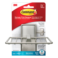Command Satin Nickel Bath Soap Dish