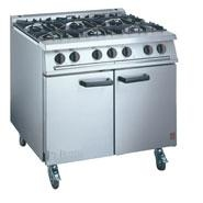 Falcon Dominator G3101 6 Burner Gas Oven Range on Castors