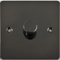 Flat Plate Black Nickel LV DIMMER 1G 2 Way 400W | LV0701.0512