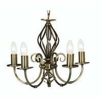 Tuscany 5 Light Pendant Antique Brass