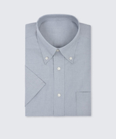 Disley Gent Silver Short Sleeve Oxford  Shirt