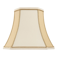 "Camilla 14"" Cream/Beige Square Cut Shade"