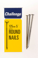 Challenge Bright Steel Round Wire Nails 125mm 500g - 12036