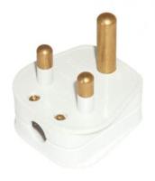 5 AMP ROUND PIN WHITE PLUGTOP