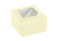 BOX & PVC 120x120x40 CREAM W/DIVIDER