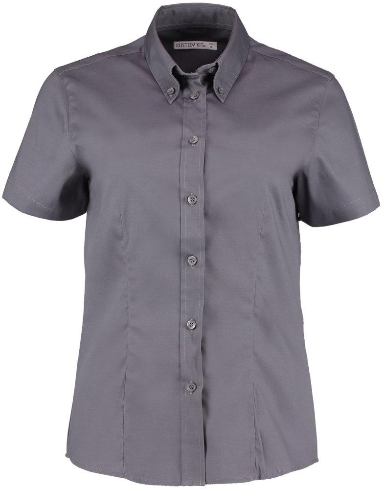 Kustom Kit Womens Workwear Oxford Short Sleeve Shirt