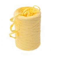 RIBBON POLYRAFFIA 200MTR LT YELLOW