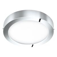 EGLO Fueva 1 LED Polished Chrome Round Ceiling Light LED 22w 3000k | LV1902.0068